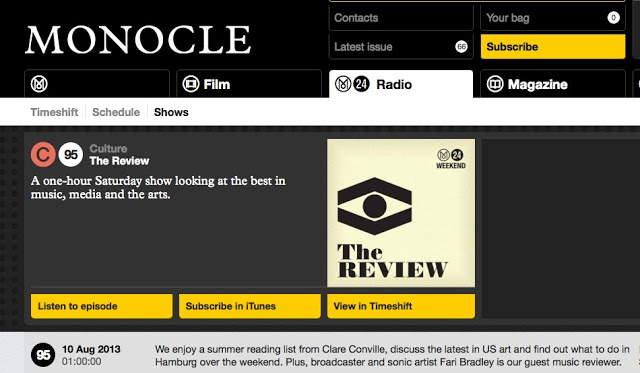 A Guest Music Review on Monocle 24 Radio